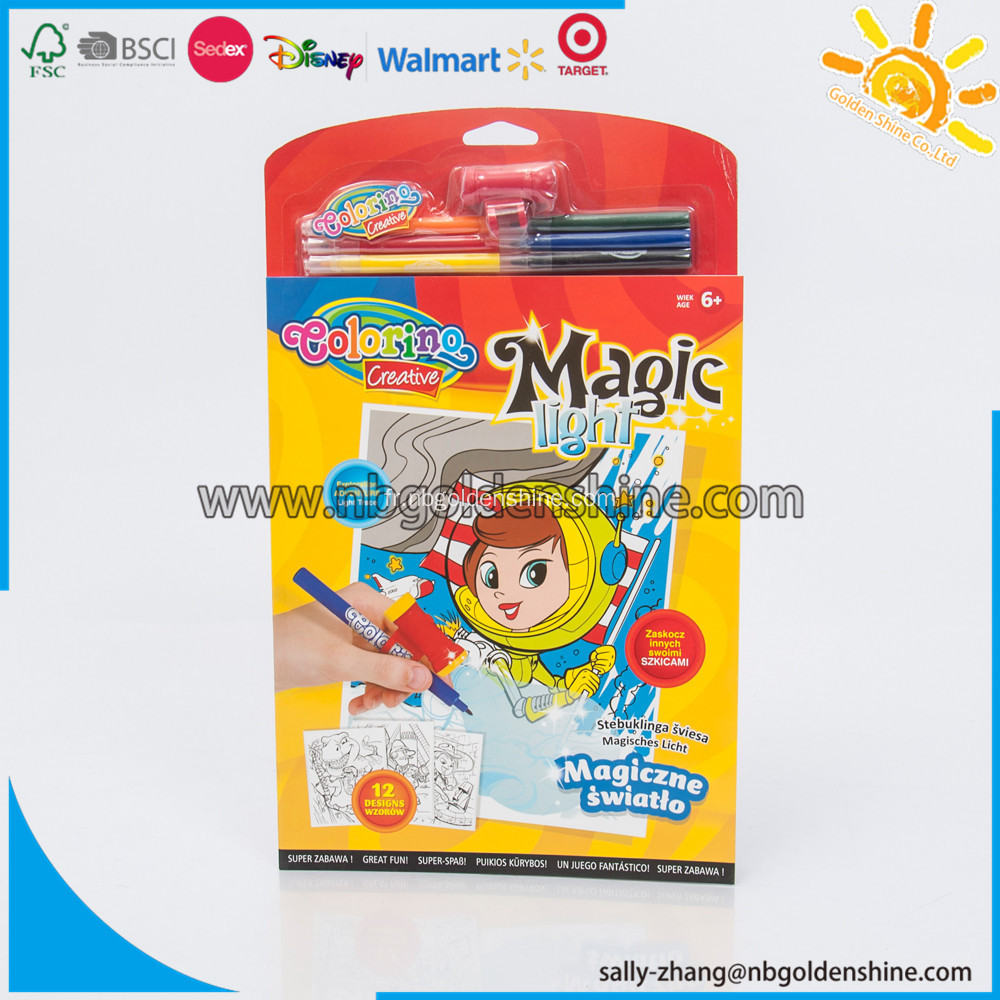 Magical Light Trace Coloring Book