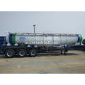 22CBM V shape 98٪ sulfuric acid tank semi-trailer