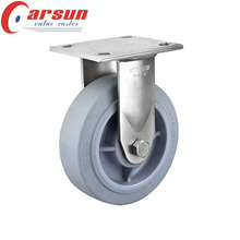 125mm Heavy Duty Fixed Caster with Performa Rubber Wheel