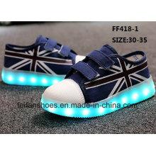 Детей OEM LED мода досуг обувь холст спортивная обувь (FF418-1)