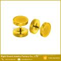 Los pendientes falsificados aduana al por mayor del tapón de fuente 10m m del arco iris del oro anodizado titanio