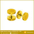 Wholesale Titanium Anodized Gold Rainbow Plated 10mm Custom Fake Plugs earrings