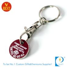 Kundenspezifische Trolley-Münzen-Schlüsselkette für Großbritannien (KD0771)