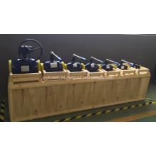 Válvula de bola de distribución de calefacción