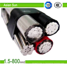 Воздушных изолированных кабелей Расклассифицированных напряжений тока до 10кВ
