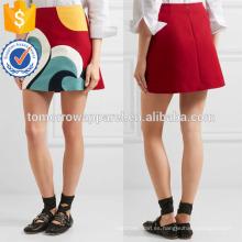 Nueva Moda Red A-line Verano Mini Falda Diaria DEM / DOM Fabricación Al Por Mayor Ropa de Mujer de Moda (TA5006S)