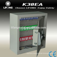Electronic key cabinet to storage the keys with key hooks inside
