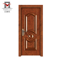 Nouveaux modèles de porte d'entrée en bois d'acier d'origine acceptés