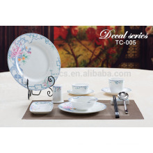 porcelain dessert salad pizza plates dishes for hotel and restaurant