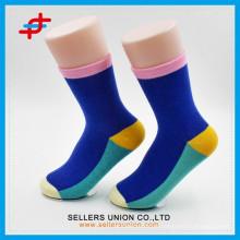 Chaussettes en coton personnalisées en coton personnalisé / Chaussettes à collant de couleur Candy