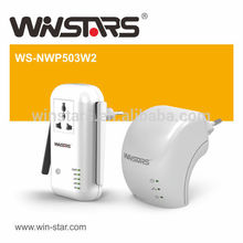 500Mbps usb 2.0 Hub 7 Port cool AV500 Extender USB-Hubs mit Netzteil. Powerline adapter, CE, FCC