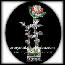 K9 Green and Red Crystal Flower