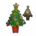 Pin da lapela das árvores de Natal da impressão do metal para vendas