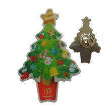 Metal Printing Christmas Trees Lapel Pin for Sales