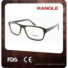 2017 Nouveaux cadres optiques d'acétate de conception, gentilles lunettes de vue d'hommes