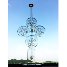 New Design Swiss Recycler Glass Water Pipe