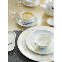 A071 Modern green in glazed eco-friendly porcelain dinnerware set dinner set