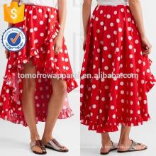 Nova Moda Assimétrica Babados Polka-dot Saia De Algodão DEM / DOM Fabricação Atacado Moda Feminina Vestuário (TA5156S)