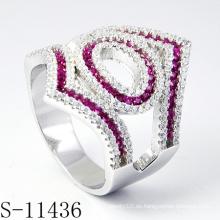Mode Damen Silberschmuck mit Farbe Stein Luxus Ring (S-11436)