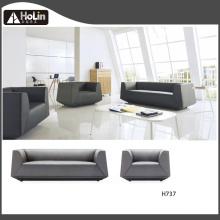 Conjunto de sofá de couro para escritório de três lugares