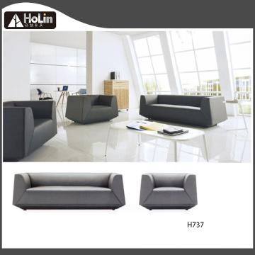 Three Seats Leather Office Sofa Set