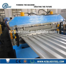 Nigeria Type Automatic Corrugated Roof Sheet Roll Forming Machines / Cold Color Steel Roofing Roll Forming Machine