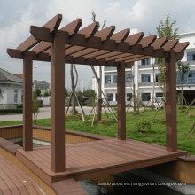 Pérgola de madera compuesta / Pérgola para jardín al aire libre / Gazebo