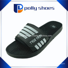 Black Massage Flip Flop Sandals Slides Men′s