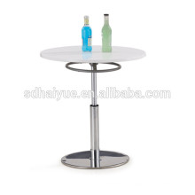 Top rated swivel cafe table wooden furniture dining table