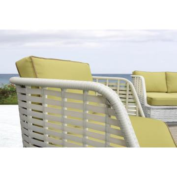 White Rattan Outdoor Furniture Restaurant Furniture