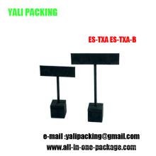 Черный МДФ флок серьги ювелирные изделия стенд (ЭС-Техас-а / ES-ТХ-Б)