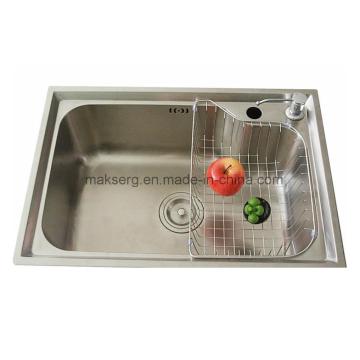 Einzelwaschbecken aus Edelstahl