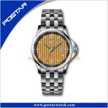 Reloj de pulsera famoso del cuarzo de Japón Movt del acero inoxidable de la marca para los hombres