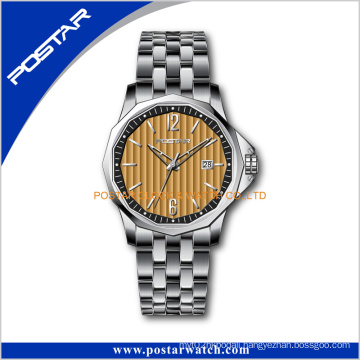 Famous Brand Stainless Steel Japan Movt Quartz Wrist Watch for Men