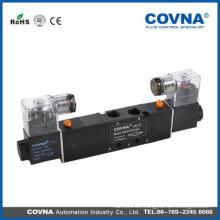 HK4V230Cseries válvula de solenoide de aire de tres posiciones de tres vías de voltaje estándar de 5/3 vías