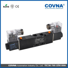 HK4V230Cseries Válvula solenóide de ar de três vias de três vias de tensão padrão de 5/3 vias