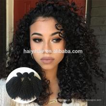 Venda quente virgem cabelo humano virgem indiano cabelo cinzento naturalmente encaracolado