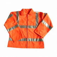 Protective Reflective Safety Wear, Waterproof and Anti-oil, Durable and Good Extensibility