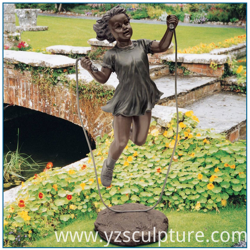 Bronze Skipping Rope Girl Statue