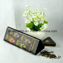 Boîte en étain cadeau en métal en métal personnalisé, boîte à thé en métal, bidon carré