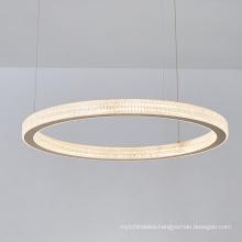 European style hotel modern LED Circle round Ring Hanging Light chandelier Living Room lamp Pendant Lights