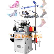 компьютеризированная автоматическая носок вязальная машина 3.75 дюймов простые и махровые носочки