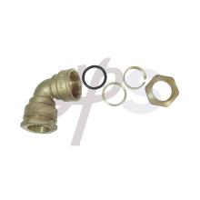 accesorio de compresión de latón para tubo de PE