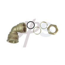 brass compression fitting for PE pipe