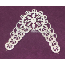 Appliques en strass appliques en cristal de chaîne de coupe pour la robe de mariée