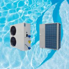 Swimming pool heat pump solar system