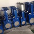 WCB pn10 pn16 accionada eléctrica cuchillo de puerta de la válvula de China proveedor