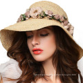 Lafite Wide Large Brim Cap Casual Summer Fashion Soft Felt Floppy Women Straw Hat