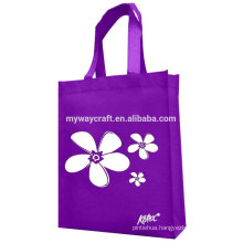 purple customized recycle tote bag
