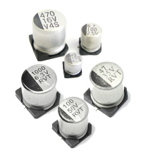 Condensador electrolítico de aluminio de Shenzhen Topmay SMD 105c 4-100VDC